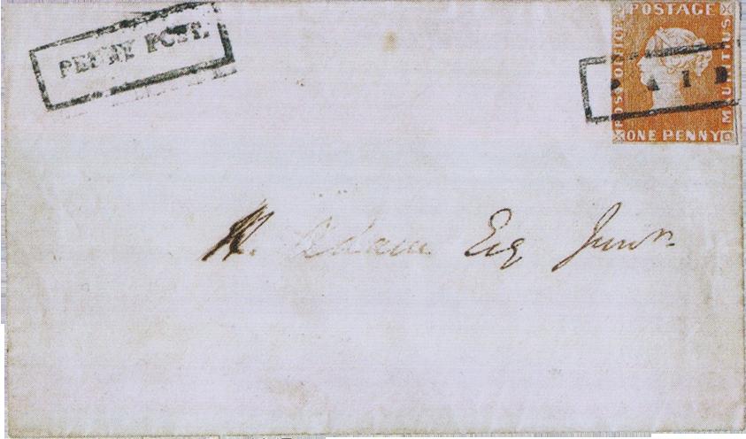 Письмо с маркой «Красный пенни»