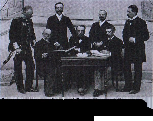 Первые члены международного олимпийского комитета, групповая фотография