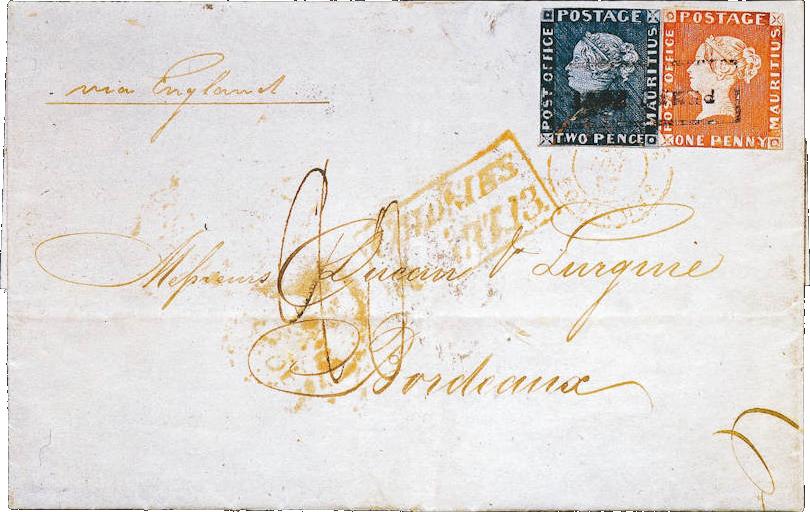 Самое дорогое «Письмо Бордо» с первыми марками Маврикия