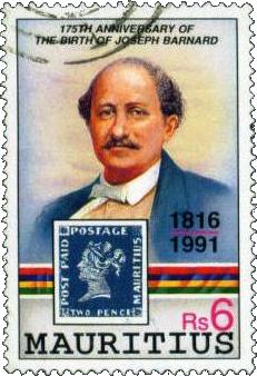 Гравер первой марки Маврикия Дж. Барнард