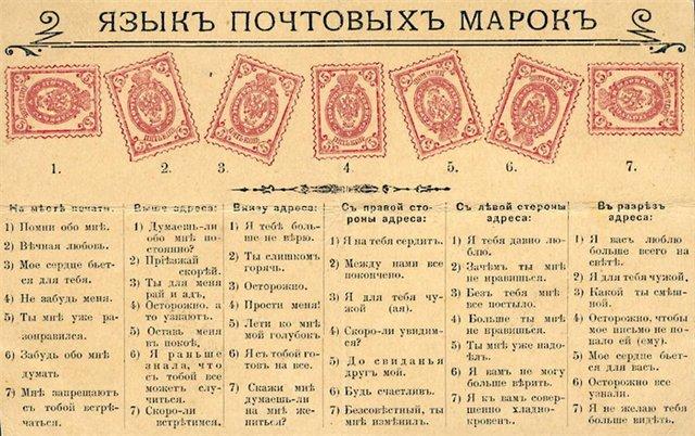 Язык почтовых марок