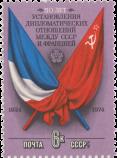 Флаги СССР и Франции