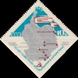 Карта Антарктиды с обозначением советских научно-исследовательских станций