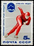 Конькобежка на дистанции