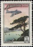 Дальний Восток, самолет над бухтой