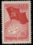 Флаг СССР на Северном полюсе